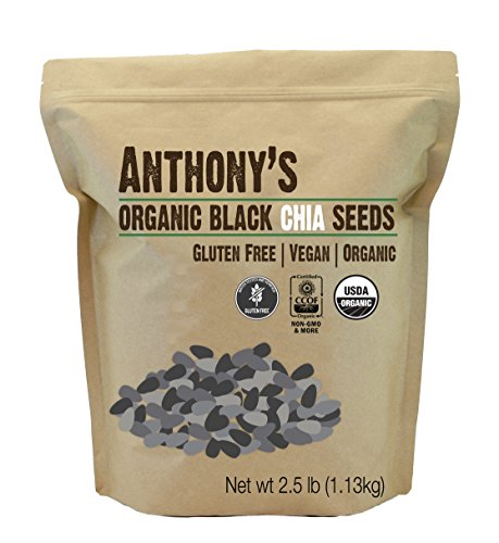 51D MKlu5TL - Anthony's Organic Chia Seeds Bulk Raw Non-GMO