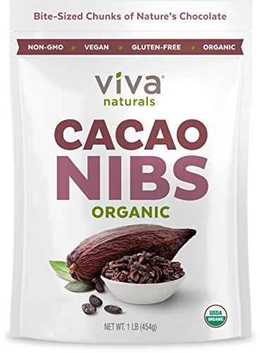 51PZbr6 IyL - Viva Naturals - The BEST Tasting Organic Raw Cacao Nibs